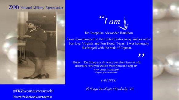 Soror Dr. Josephine Alexander Hamilton