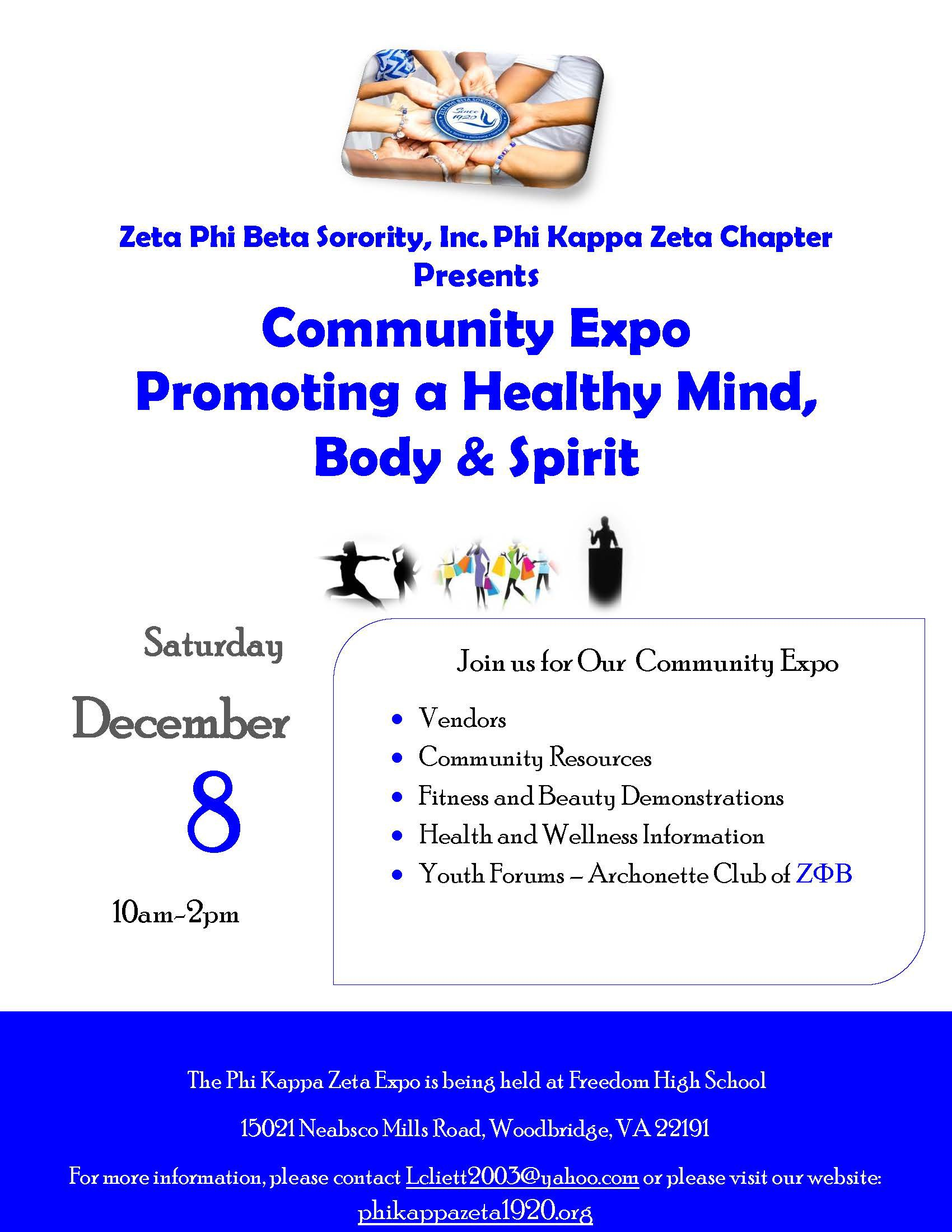 Community Expo – Save the Date (Registration Extended through 11/15